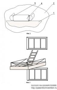 Междуэтажная откидная спасательная платформа
