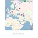 Размещение метки на карте на год