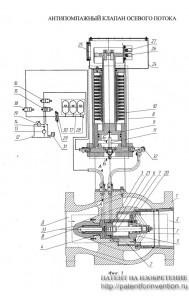Антипомпажный клапан осевого потока